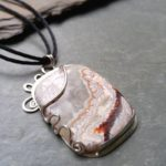 Crazy Lace Agate set in sterling